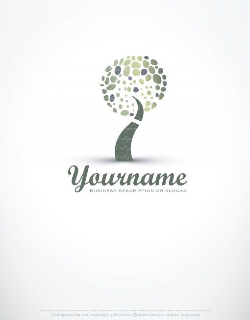 Ready made Logo design combined with a three dimensional Green Tree symbol