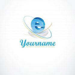 Ready made High tech Logo design combined With Internet Web network symbol.