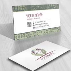 business-card Logo design with logotype of Holding Hands