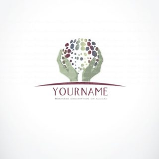 Ready Made Logo design with logotype of Holding Hands