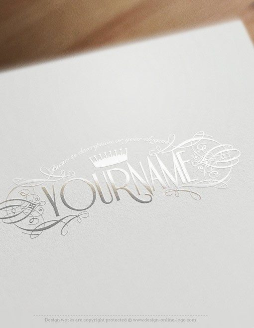 logo design with CROWN Decorated frame