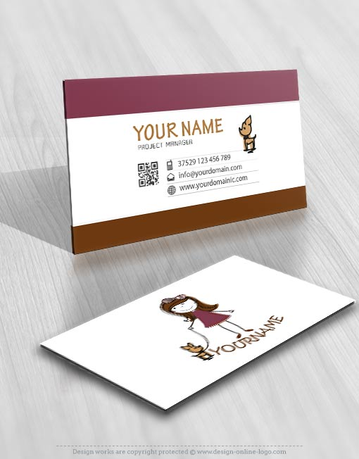 01810-kids-girl-dog-logo-business-card-design