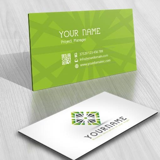 Exclusive Design: 3D Symmetric Logo + Compatible FREE Business Card