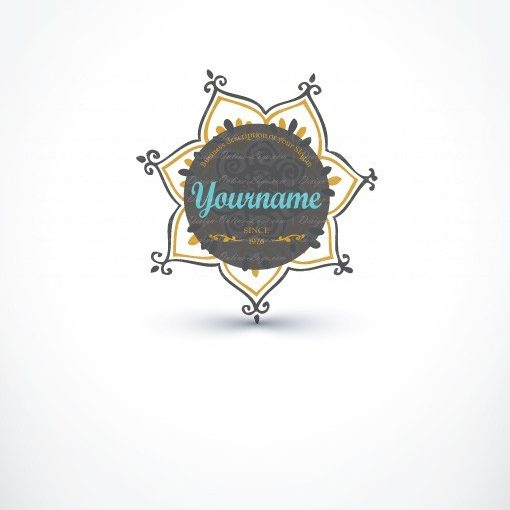 Exclusive Design: Retro Flower Logo + Compatible FREE Business Card