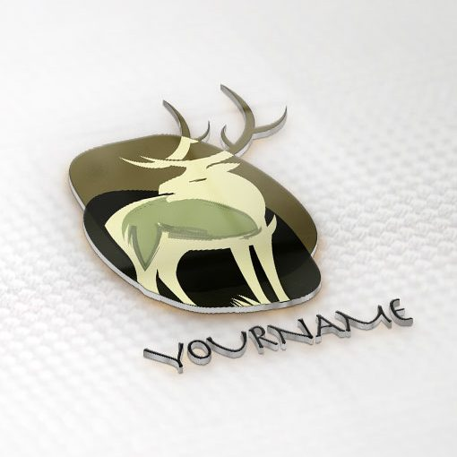 Exclusive Design: African animal Logo + Compatible FREE Business Card