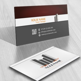 Exclusive Design: Buildings Logo FREE Business Card