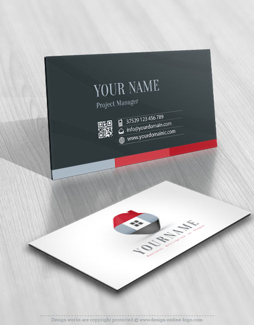 Ready hand made Real Estate Logo Design business-card
