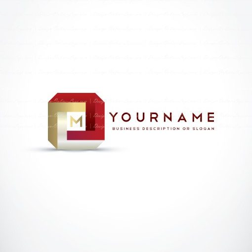 Ready made Three dimensional logo designed with your initials letters and a cube