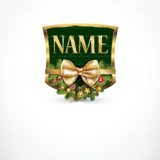 Logo design with Tree Decorations of Christmas