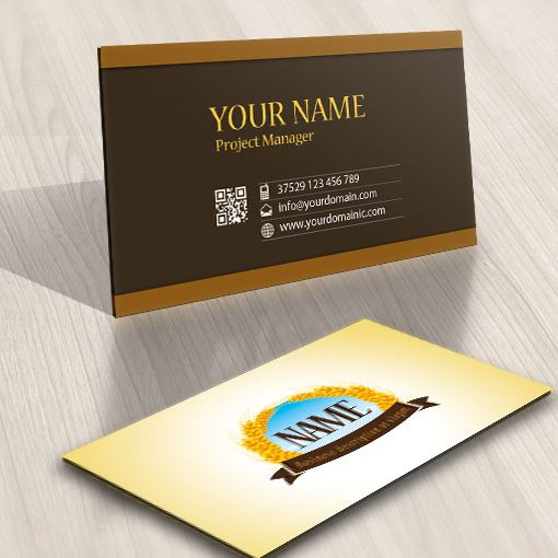 Pre made Logo template designed for a bakery Or beer brewery business-card