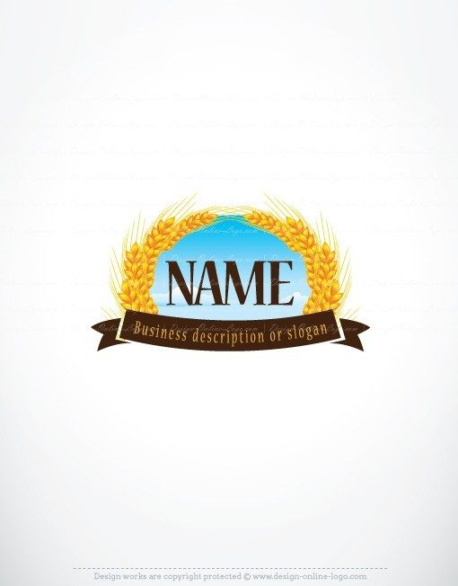 Pre made Logo template designed for a bakery Or beer brewery