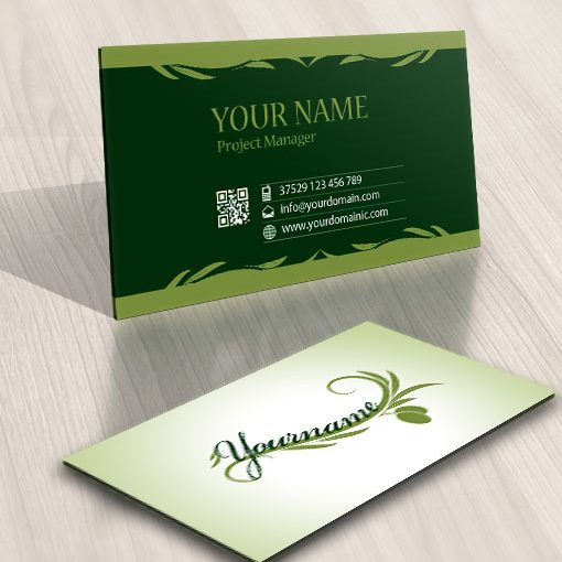 Ready made designed logo template business card olive branch