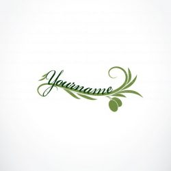 Ready made designed logo template with an olive branch