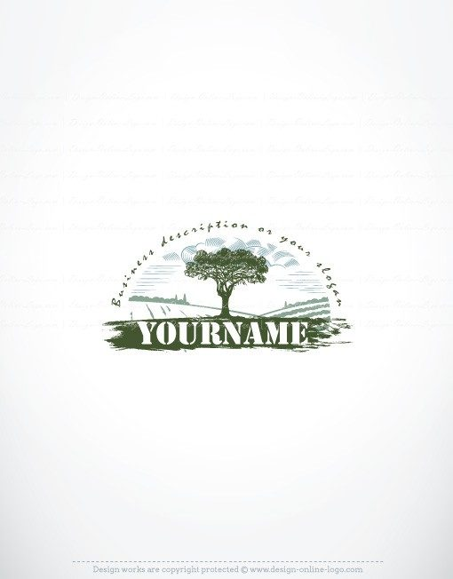 Exclusive Design Farm Tree Logo FREE Business Card