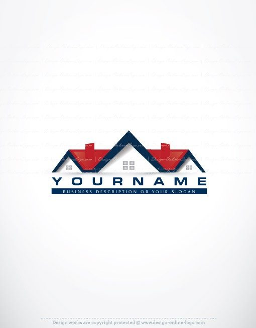 House Real Estate Logo FREE Business Card