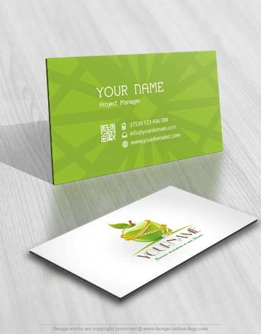 Exclusive Dite Apple Logo Design Compatible FREE Business Card