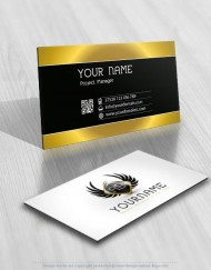 Design Wings Logo FREE Business Card