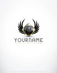 Ready made logo design with Eagle Wings