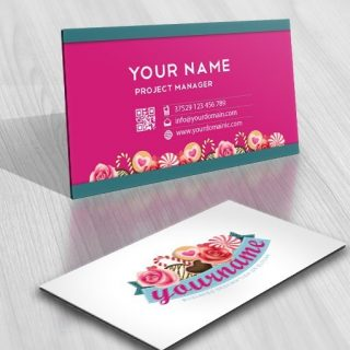 Sweet logo design with Lots of sweets, cookies and candies Candy Crush