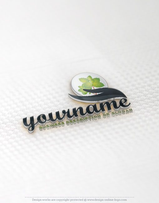 Ready made Logo design with hand holding a flower