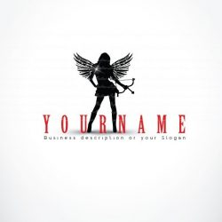 Cupid sexy woman logo Design FREE Business Card