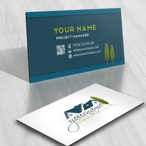 Real Estate House Logo Design FREE Business Card