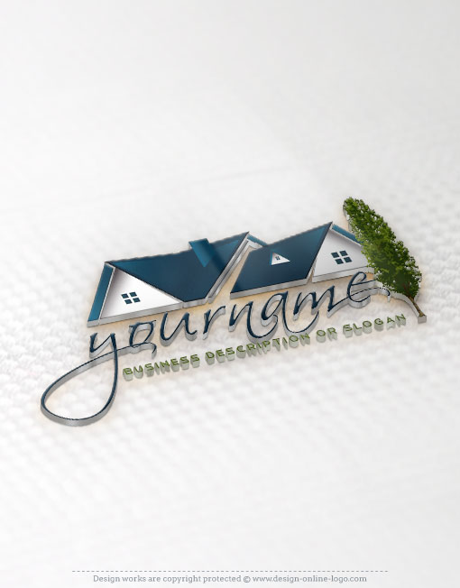 Exclusive design real estate house logo compatible free for Household design logo