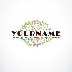 Logo design template colorful Palms Hands