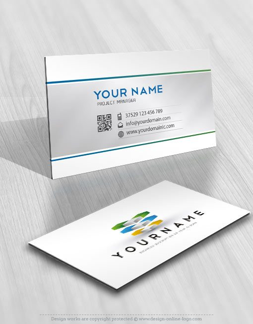 Exclusive Design: 3D Colorful Cube Logo + Compatible FREE Business Card