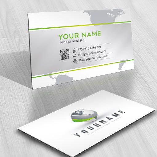 Ready made 3D online Logo design with Globe