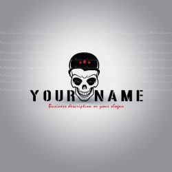 Ready made online logo design with the symbol of a Death Skull