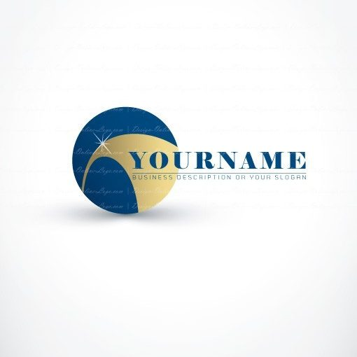 Ready made online Logo design with a Shining Path way icon and deep blue sky
