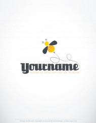 Ready made online logo design with a symbol of a Honey bee bug