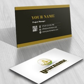 Premium Online Logo design with delicate Magic ball, combining Initials letters of the business name