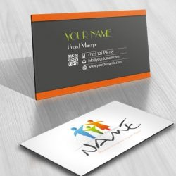 Online Logo designed with colorful Family free business card