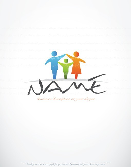 Exclusive Design Family Online Logo Free Business Card