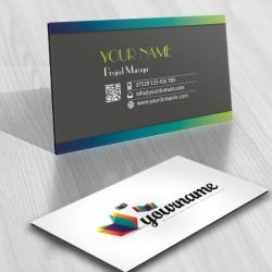 online Logo design 3D Butterfly Flying Book free business card