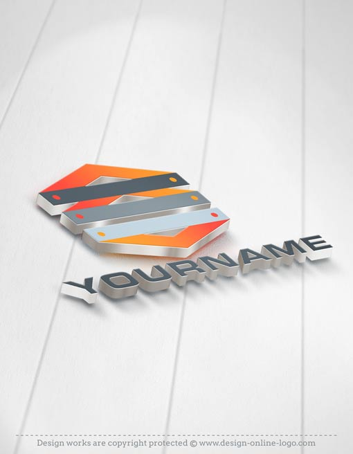 industry logos business card 3D