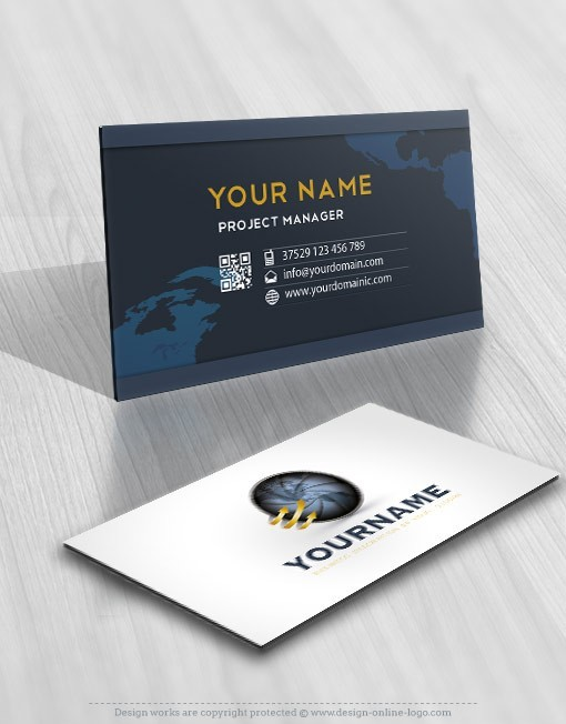 design Globe Focus logo FREE Business Card