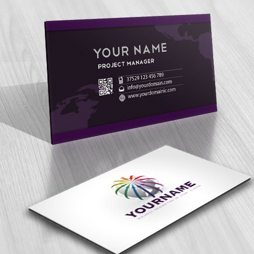 3D Arrows Globe Logo Design FREE Business Card