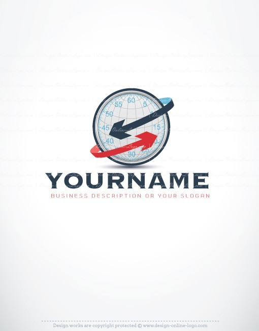 Online logo design globe time clock Logos consulting management accountant