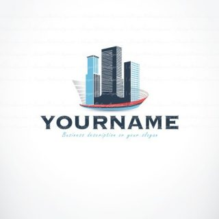 Exclusive Design Buildings Real-Estate Logo FREE Business Card