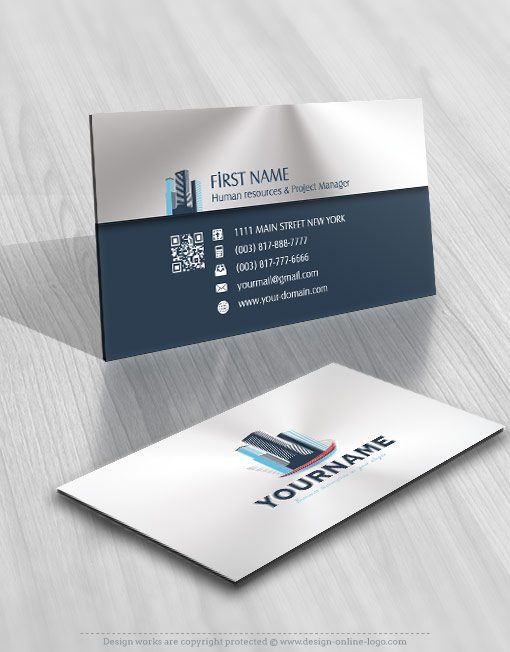 Buildings Real Estate Logo Design FREE Business Card