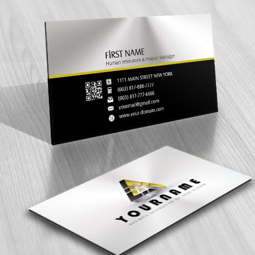 Online ready made Logo design Free business card 3D triangle and your Initial