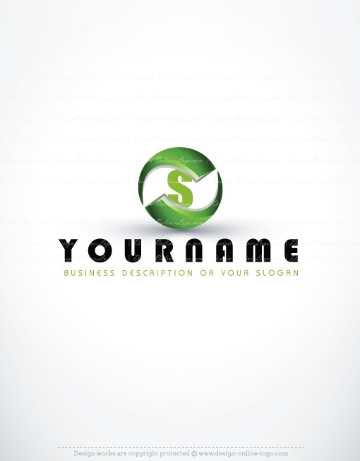 Online ready hand made Logo design with 3D symbol and your Alphabet Initial