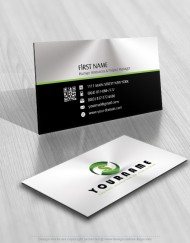 Online ready made Initial Logo design Free business card 3D