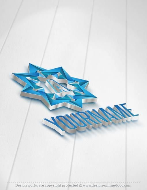 3D Initial star Logo design template FREE Business Card