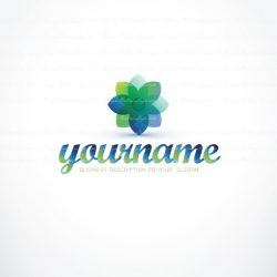 Ready made online Logo design with a clean flower logotype