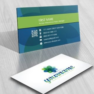 Online Flower logo Exclusive Design FREE Business Card