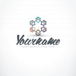 Ready made online Logo Design with 3d abstract